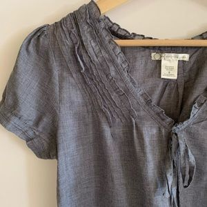 Cotton Ruffle Top by Charlotte Russe